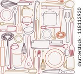 kitchen and cooking utensils... | Shutterstock .eps vector #118112920