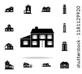house with an extension  icon.... | Shutterstock .eps vector #1181129920