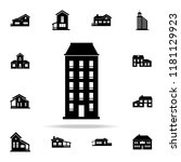 one block building  icon. house ... | Shutterstock .eps vector #1181129923