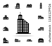 hotel building  icon. house... | Shutterstock .eps vector #1181129926