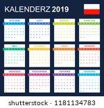 polish calendar for 2019.... | Shutterstock .eps vector #1181134783