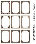 set of decorative frame in... | Shutterstock .eps vector #1181137630