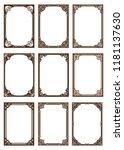 set of decorative frame in... | Shutterstock .eps vector #1181137630