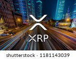 concept of  xrp ripple coin... | Shutterstock . vector #1181143039