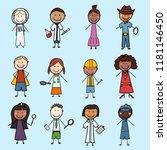 children from all over the...   Shutterstock .eps vector #1181146450