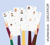 cv resume. job interview... | Shutterstock .eps vector #1181154139