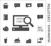 search on computer icon. web...