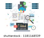 laptop accessing data from... | Shutterstock .eps vector #1181168539