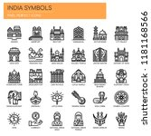 india symbols   thin line and... | Shutterstock .eps vector #1181168566