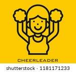 cheerleader icon signs | Shutterstock .eps vector #1181171233
