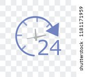 24 hours vector icon isolated... | Shutterstock .eps vector #1181171959