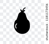 pear vector icon isolated on... | Shutterstock .eps vector #1181173456