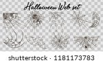 vector illustration halloween... | Shutterstock .eps vector #1181173783