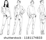 vector drawings on the theme of ... | Shutterstock .eps vector #1181174833