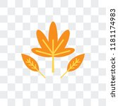 dry leaf vector icon isolated... | Shutterstock .eps vector #1181174983