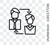 exchange personel vector icon...