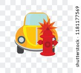 crash vector icon isolated on... | Shutterstock .eps vector #1181177569