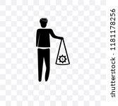 man with money gears vector...   Shutterstock .eps vector #1181178256