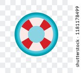 lifebuoy vector icon isolated... | Shutterstock .eps vector #1181178499