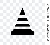 traffic barriers vector icon... | Shutterstock .eps vector #1181179636