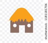 hut vector icon isolated on... | Shutterstock .eps vector #1181181706