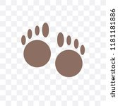 paw print vector icon isolated...   Shutterstock .eps vector #1181181886