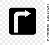 turn right vector icon isolated ... | Shutterstock .eps vector #1181184256