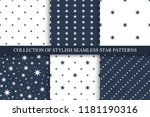 collection of vector seamless... | Shutterstock .eps vector #1181190316