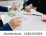 business team meeting... | Shutterstock . vector #1181191303