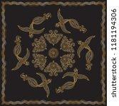 abstract bandana peacock gold...   Shutterstock .eps vector #1181194306