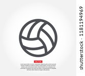volleyball ball outline vecto | Shutterstock .eps vector #1181194969