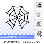 spider web thin line icon.... | Shutterstock .eps vector #1181196703