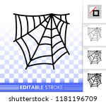 spider web thin line icon.... | Shutterstock .eps vector #1181196709