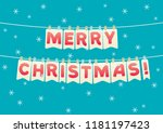 festive bunting flags with... | Shutterstock .eps vector #1181197423