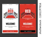 welcome page ux ui for with red ...