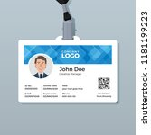 office id card template with... | Shutterstock .eps vector #1181199223