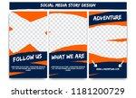 editable social media instagram ... | Shutterstock .eps vector #1181200729
