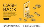cashback shopping vector... | Shutterstock .eps vector #1181203483