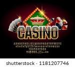 chic vector logotype for casino ... | Shutterstock .eps vector #1181207746