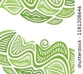 nature green background. vector ... | Shutterstock .eps vector #1181208646