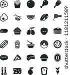 solid black flat icon set... | Shutterstock .eps vector #1181211589