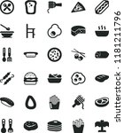 solid black flat icon set... | Shutterstock .eps vector #1181211796