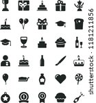 solid black flat icon set... | Shutterstock .eps vector #1181211856