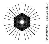 retro sun burst shape. vintage...   Shutterstock . vector #1181214310
