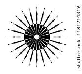 retro sun burst shape. vintage...   Shutterstock . vector #1181214319