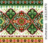 indian rug tribal ornament... | Shutterstock .eps vector #1181214970