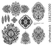 vector set of mandalas  design... | Shutterstock .eps vector #1181215000