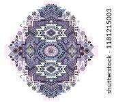 indian rug tribal ornament... | Shutterstock .eps vector #1181215003