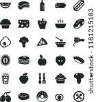 solid black flat icon set... | Shutterstock .eps vector #1181215183