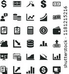 solid black flat icon set... | Shutterstock .eps vector #1181215216